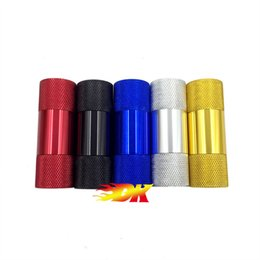 Wholesale Colorful Metal Aluminum Pollen Press Presser Compressor Mini Hand Pocket Spice Crusher Colorful Parts mm X mm