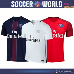 Wholesale Top thai quality PSG soccer jerseys PSG shirts DI MARIA home away rd CAVANI PASTORE VERRATTI football shirts