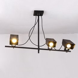 Wholesale loft industrial style retro pendant lamp bar cafe clothing creative personality monitor profile living room bedroom office pendant light