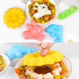 Wholesale 2016 hot sale set Rabbit Dolphin Rice Mold Sushi Abrasives Kitchen DIY Kit Sushi Tools