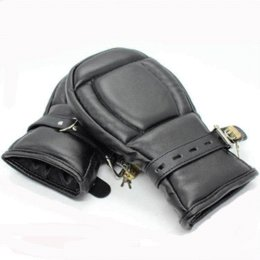 Sex Bondage Fetish Fist Mitts Pony Play Mittens Leather Sensory Deprivation Protective Gloves glove mould