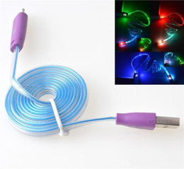 LED Visible Light Up Flash Smile Micro USB V8 Charger Cable Data Sync Flat Cord for Samsung Galaxy S4 S3 S2 Note 2 1M 3FT Universal