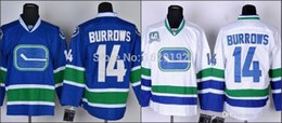 Wholesale Authentic home away and rd ice hockey Jerseys Vancouver Canucks Alexandre Burrows blue and white color stitched size S XL