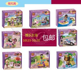 Wholesale Models Building Toy Model Building Kits BELA girls Friends building block toys girls favor gift motor boat swimming pool pupu car