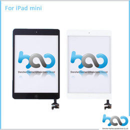 Wholesale Grad AAA Quality Touch Screen Digitizer Replacement Black White For Apple Tablet PC iPad mini Touch screen With Home Butoon