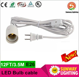 Wholesale UL approved IQ lamp power cord us with on off switch and E lampholder and feet long cable