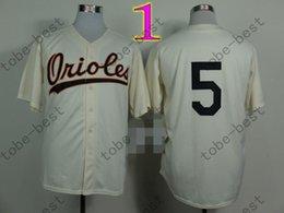 Brooks Robinson Jersey 1970 & 1975 Vintage Cream Orange Baseball Baltimore Orioles Retro Jerseys