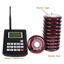 Wholesale 9999CH Digital Red Restaurant Coaster Pagers Wireless Guest Call Paging Queuing Complete System F3193P