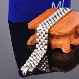 Alto acero inoxidable pulido en venta-Alta pulido hombres de la marca de acero inoxidable cadena de pulsera de plata de oro reloj correa banda brazalete pulseras joyería