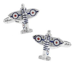 High qualiry new Novelty cufflinks special airplane cufflink for men shirt accessory 6 pcs one lot free shipping