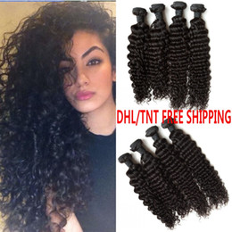 Brazilian Deep Wave Virgin Hair Extensions 100% Curly Human Hair Bundles No Shedding No Tangle G-EASY DHL FREE