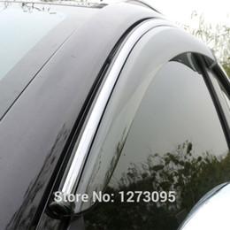 Wholesale For Hyundai IX35 Window Visor Vent Shades Sun Rain Deflector Guard Awnings Car Styling Accessories set