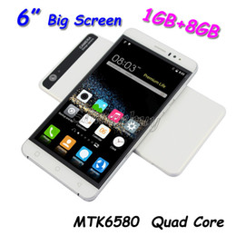 Wholesale 6 inch K800 Smartphone MTK6580 Quad core Android Dual SIM G Unlocked GB GB Mobile Cell phone Smart wake Big Screen Retail Package