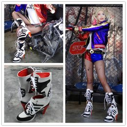 Wholesale Customized Women Fashion Harley Quinn Boots Batman Suicide Squad Harley Quinn Female Stylish Women Cosplay Shoes Clone For Women Halloween S
