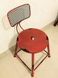 Wholesale Do the old antique wrought iron bar stools color high grade stool American backed coffee tables and chairs