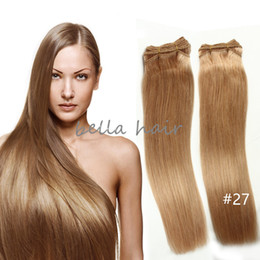 2pcs lot free shipping 14-24inch Brazilian Hair Malaysian Indian Peruvian Hair Blonde Human Hair Weft Hair Extensions 100g p Bella Hair