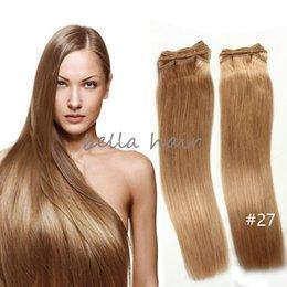 2pcs lot free shipping 14-24inch Brazilian Hair Malaysian Indian Peruvian Hair Blonde Human Hair Weft Hair Extensions 100g p Bella Hair