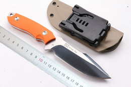 Wholesale Bolte D2 stee fixed blade survivial tactical knife 61HRC Orange G10 handle outdoor camping hiking hunting knives