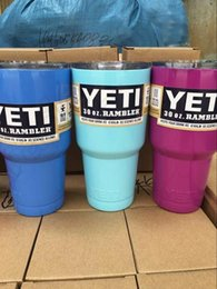 Wholesale YETI Rambler Cup Custom Colors oz oz Stainless Steel Tumbler Travel Mug Powder Coated