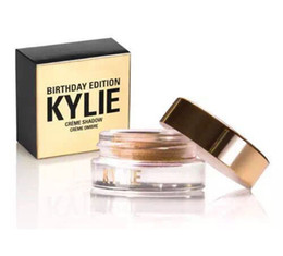 Wholesale 2016 Kit Kylie Creme Shadow Birthday Edition Makeup Copper And Rose Gold Creme OMBRE Perfect Colors Cosmetics AAA Top Eyebrow Enhancers