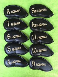 2016 hot sale 10PCSset Honma Golf headcover PU putter clubs headcoverf Golf Club Head Iron Head covers Good quality PU Protective Headcovers