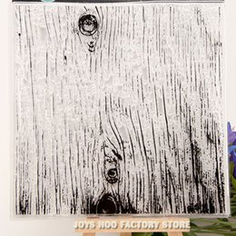 Wholesale ON SALE Scrapbook DIY photo cards account rubber stamp clear stamp transparent stamp background Tree pattern wood x13 cm