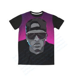 Wholesale Real USA Size August Alsina x Alsina Nation D Sublimation print T Shirt Plus size