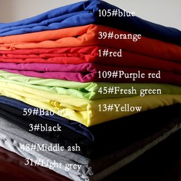 Wholesale 50 cm stretchy Natural colored cotton knitted fabric spring autumn fashion cotton dress super soft sanding baby clothing making fabric