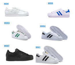 Wholesale New Smith Cheap Women Originals Superstar Trainer Shoes White Black Blue Red C77124 BNIB Womens Athletic Sports Running Shoes