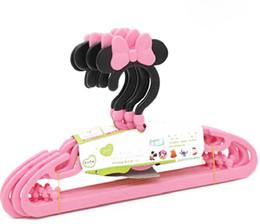 Wholesale 100pcs Cute Cartoon Children Hanger Infant Kids Plastic Coat Clothes Hooks Living Room Bathroom Supplies ZA0890