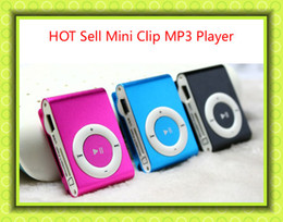 Colorful MINI Clip MP3 Player with Music player Support Micro SD Card TF Slot + Earphone +USB Cable with retail package