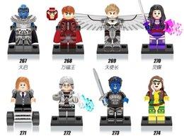 Wholesale 480pcs X0115 Super Heroes Marvel X Men Apocalypse Minifigures Magneto Rogue Mystique blocks baby toys compatible