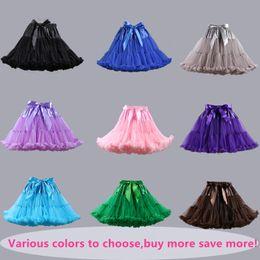 Wholesale Ladies Pettiskirt Skirts - Stock Adult Womens Ladies Tutu Skirt Fluffy Party Costume Petticoat Ballet Princess Adult Tulle Dancewear Pettiskirt