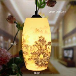 Fashion Counter Lamp Simple Home Cafe Bar Dining Room Lighting Decor Porcelain Art Pendant Lamp