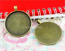Wholesale A3407 MM Fit MM Round metal stamping pendant blanks antique bronze cameo base Nepal vintage tibetan cabochon setting bezel tray