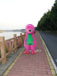Wholesale barney the purple dragon mascot cartoon garment anime show custom clothing