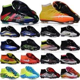 Wholesale 2016 s League Mercurial Superfly Heritage VI CR7 FG Soccer Shoes Magista Obra Football Boots ACC Outdoor Hypervenom II Soccer Cleats