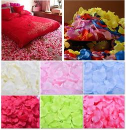 Wholesale 100pcs set Wedding Rose Petals Colors Artificial pentals Wedding Carpet Decoration Petals Silk Rose Petals Wedding room ornaments B587