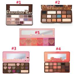 Wholesale 5 styles Eye Shadow Palette Chocolate Bar Semi Sweet Bon Bons Sweet Peach Eye Shadow Palette Love Flush Blush Makeup