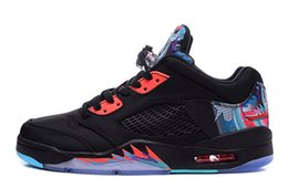 Wholesale Cheap sale mens low china V men women Retro basketball shoes Black Bright Crimson Beta Blue s sports shoes