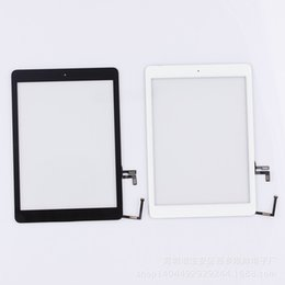 Wholesale For iPad air for iPad Touch Screen Glass Digitizer Assembly with Home Button Adhesive Glue Sticker Replacement Repair Parts Black White