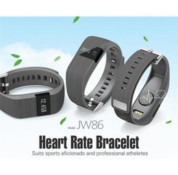 Wholesale DM JW86 heart rate Smart Bracelet Wristband watch Bluetooth similar for fitbit Fitness Activity Track wireless sport band