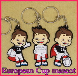 France 16 European Cup Mascot Keychains Football Fan Gift Men's Car Key Pendant Keys car Key gifts toys