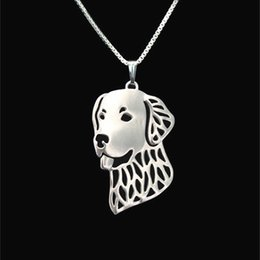 Golden Retriever Pendant Silver Gold Necklaces & Pendants For Women Casual Jewelry Charms Dog Necklace