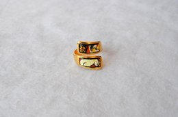 Dreams and Roses Series rings 18K gold-plated enamel rings Top quality double curved ring for women band rings for gift