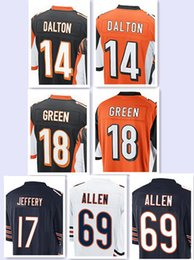 Wholesale Men s Game Jerseys Andy Dalton AJ Green Alshon Jeffery Jared Allen Stitching Embroidery jersey top quality