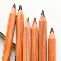High Quality 15pcs lot 4 in 1 Color Pencils Colored Pencil Color Pencil Pens Drawing Painting Pen Stationery