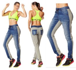 Wholesale women long pants Dynamic Denim Dance Pants Women Bottoms