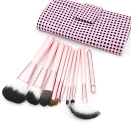 Pink Makeup Brushes Nylon Makeup Brush Cosmetic Brush 13 sets lot Face Brush makeup Brush Kit