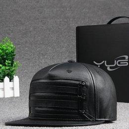 New Fashion Unisex Casual chapeaux Hats Black Blank PU Leather Flat brim Baseball Caps Hip hop Cap Bones Gorras For Men Women